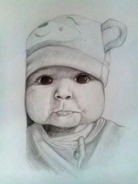 Как нарисовать ребенка? Шаг 14. Портреты карандашом - Fenlin.ru