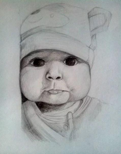 Как нарисовать ребенка? Шаг 15. Портреты карандашом - Fenlin.ru