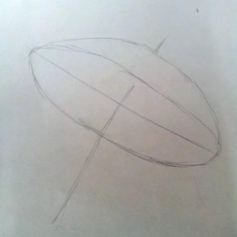 Как нарисовать зонтик карандашом? Шаг 2. Портреты карандашом - Fenlin.ru