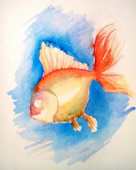 Как нарисовать золотую рыбку? Шаг 6. Портреты карандашом - Fenlin.ru