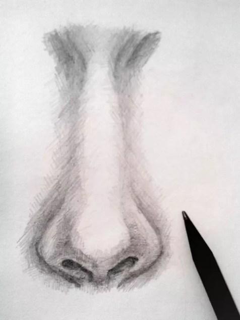 Как нарисовать нос человека карандашом? Шаг 12. Портреты карандашом - Fenlin.ru