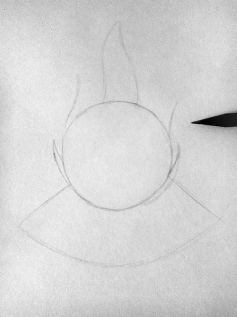 Как нарисовать огонь карандашом? Шаг 2. Портреты карандашом - Fenlin.ru