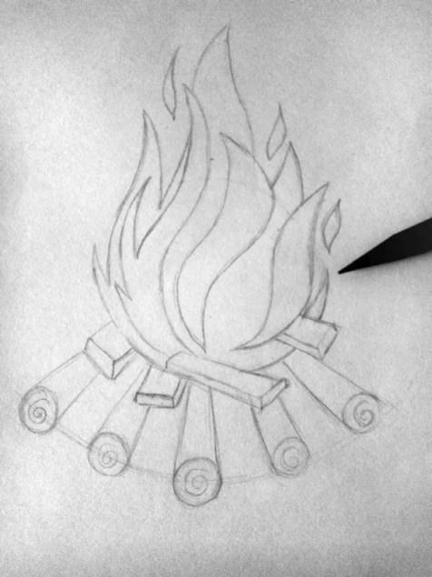 Как нарисовать огонь карандашом? Шаг 5. Портреты карандашом - Fenlin.ru