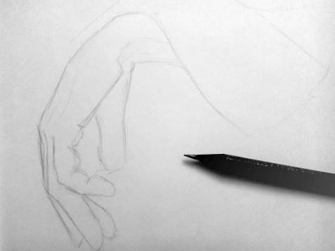 Как нарисовать руки карандашом? Шаг 3. Портреты карандашом - Fenlin.ru