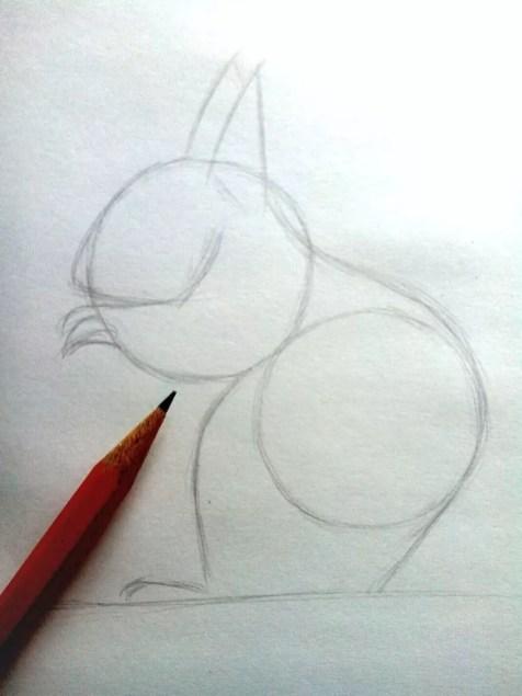Как нарисовать белку карандашом? Шаг 4. Портреты карандашом - Fenlin.ru