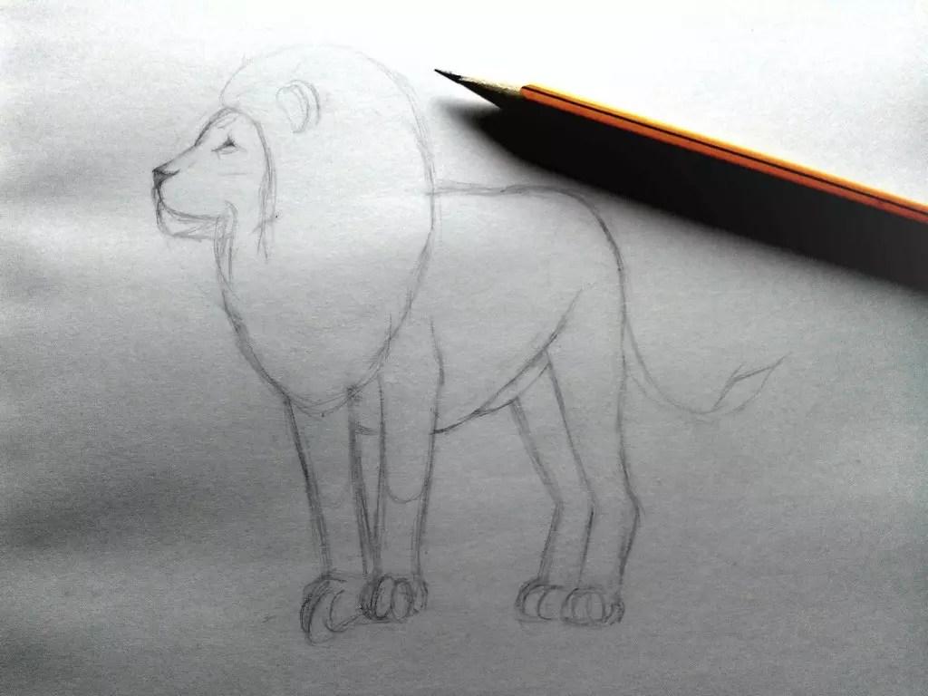 Как нарисовать льва карандашом? Шаг 6. Портреты карандашом - Fenlin.ru
