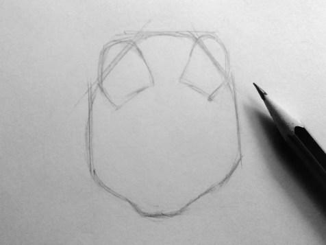 Как нарисовать мышку карандашом? Шаг 3. Портреты карандашом - Fenlin.ru