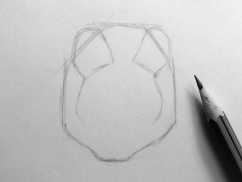 Как нарисовать мышку карандашом? Шаг 4. Портреты карандашом - Fenlin.ru