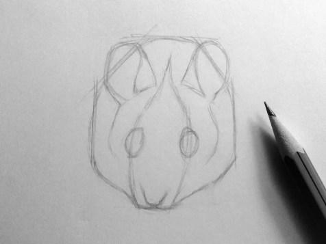 Как нарисовать мышку карандашом? Шаг 8. Портреты карандашом - Fenlin.ru