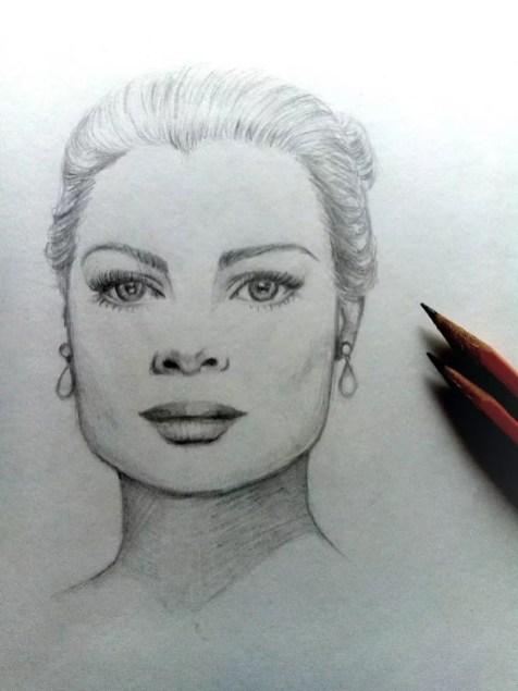 Как нарисовать женский портрет карандашом? Шаг 10. Портреты карандашом - Fenlin.ru