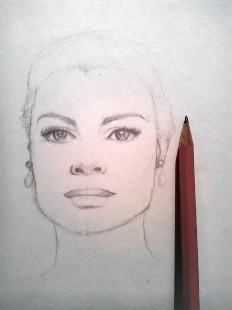 Как нарисовать женский портрет карандашом? Шаг 7. Портреты карандашом - Fenlin.ru