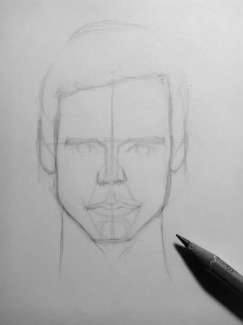 Как нарисовать мужчину карандашом? Шаг 10. Портреты карандашом - Fenlin.ru