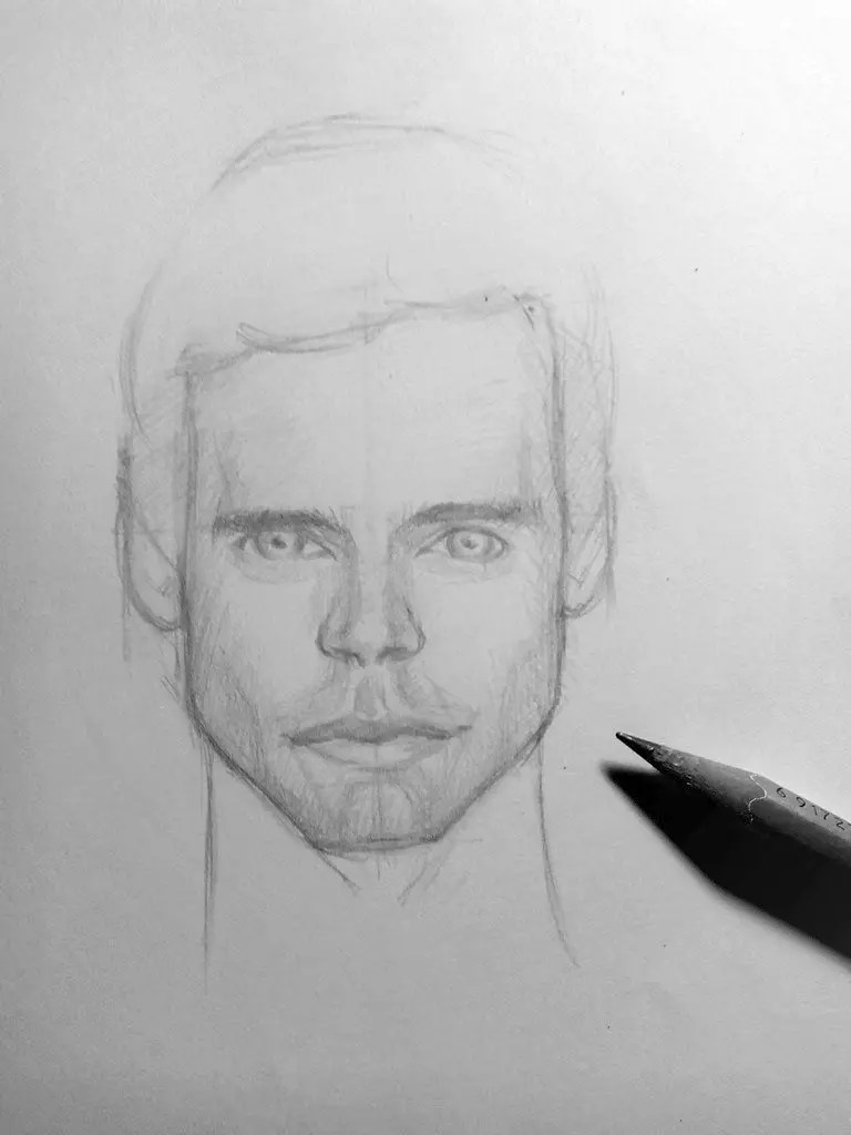 Как нарисовать мужчину карандашом? Шаг 15. Портреты карандашом - Fenlin.ru