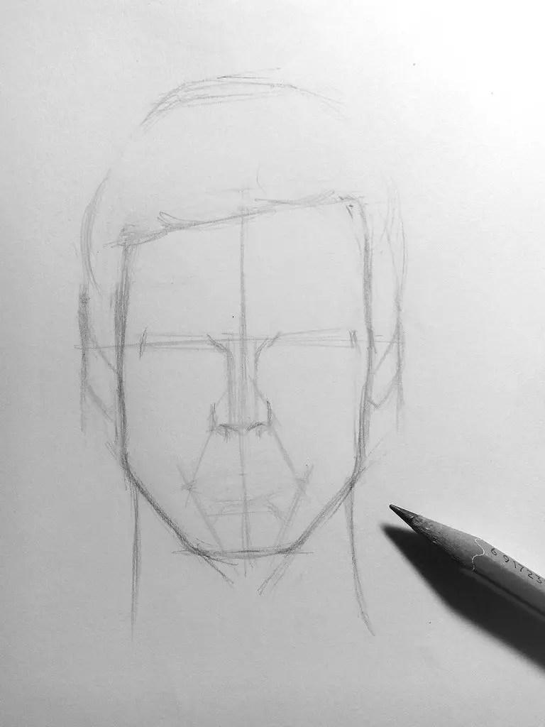 Как нарисовать мужчину карандашом? Шаг 7. Портреты карандашом - Fenlin.ru