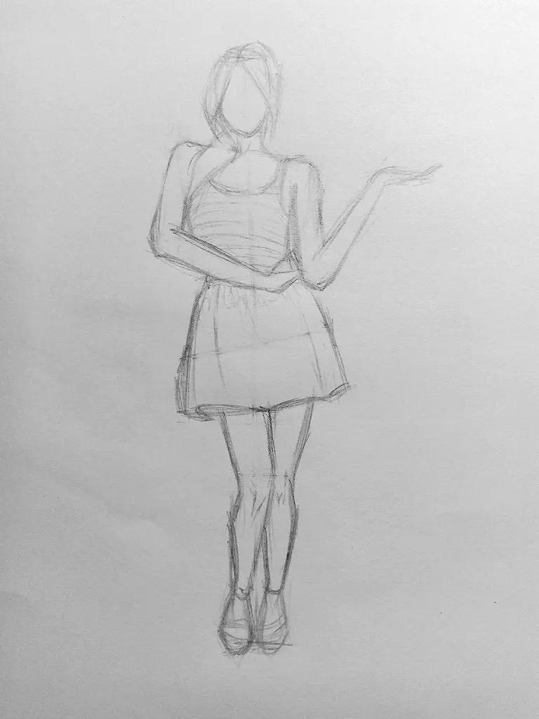 Рисунок девушек в полный рост, гифка