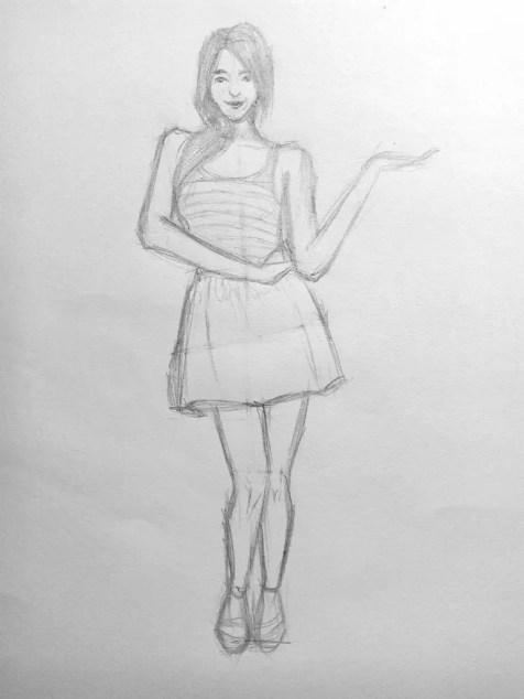 Как нарисовать женщину в полный рост карандашом? Поэтапный урок. Шаг 14. Портреты карандашом - Fenlin.ru