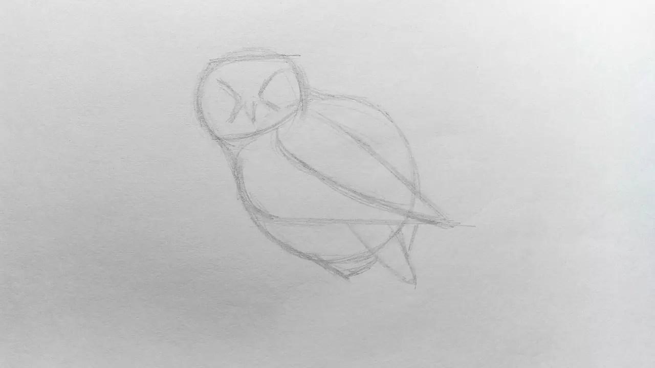 Как нарисовать сову карандашом? Шаг 4. Портреты карандашом - Fenlin.ru