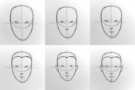 Основы рисования портрета карандашом. Анфас