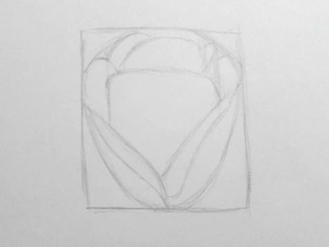 Как нарисовать розу карандашом для детей? Шаг 5. Портреты карандашом - Fenlin.ru