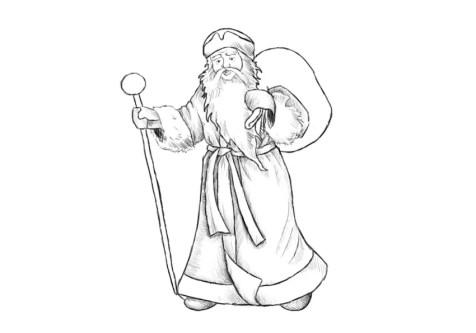 Как нарисовать Деда Мороза? Шаг 13. Портреты карандашом - Fenlin.ru