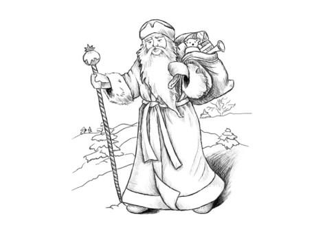 Как нарисовать Деда Мороза? Шаг 18. Портреты карандашом - Fenlin.ru