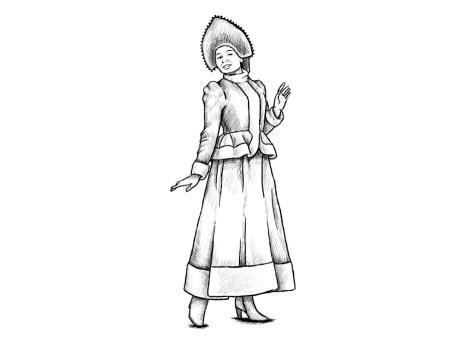 Как нарисовать Снегурочку? Шаг 13. Портреты карандашом - Fenlin.ru