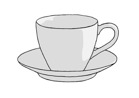 Как нарисовать чашку на графическом планшете? Шаг 10. Портреты карандашом - Fenlin.ru