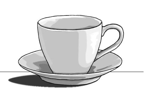 Как нарисовать чашку на графическом планшете? Шаг 13. Портреты карандашом - Fenlin.ru