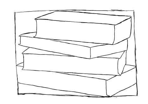 Как нарисовать книги на графическом планшете? Шаг 5. Портреты карандашом - Fenlin.ru