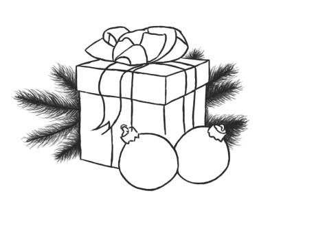 Как нарисовать подарок на новый год? Шаг 10. Портреты карандашом - Fenlin.ru