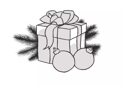 Как нарисовать подарок на новый год? Шаг 12. Портреты карандашом - Fenlin.ru
