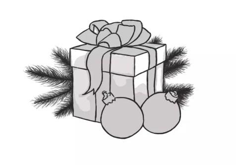 Как нарисовать подарок на новый год? Шаг 13. Портреты карандашом - Fenlin.ru