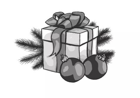 Как нарисовать подарок на новый год? Шаг 16. Портреты карандашом - Fenlin.ru