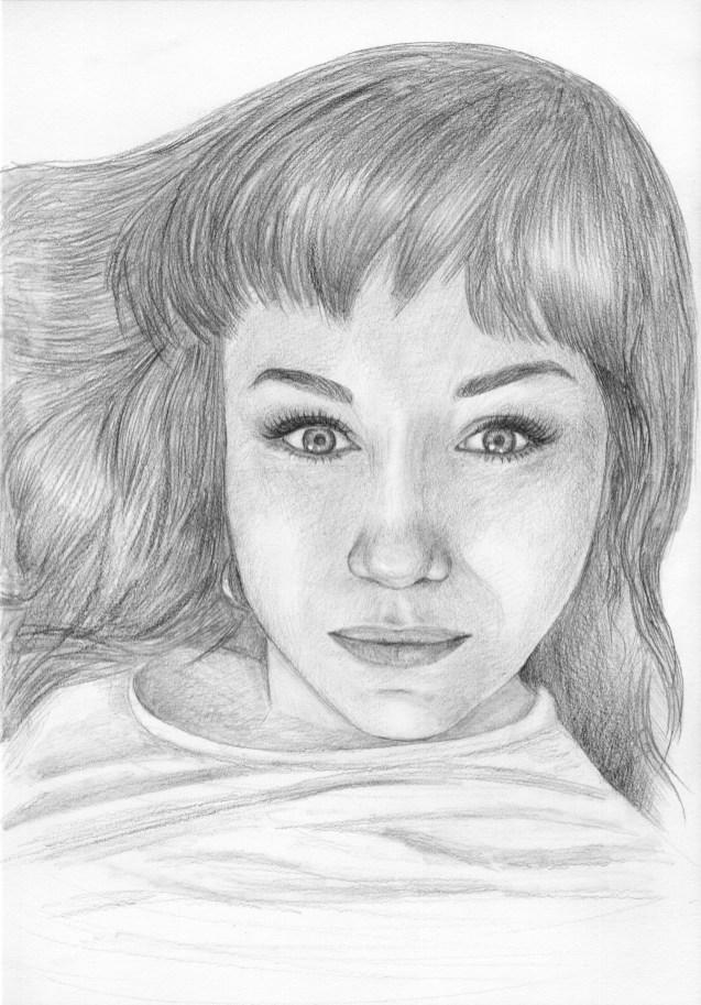 Портрет девушки карандашом (формат A4) - портреты карандашом по фотографии FenLin.ru