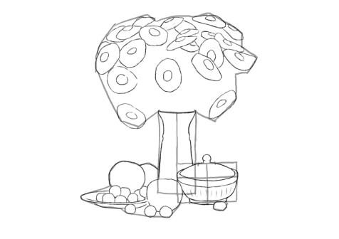 Как нарисовать сложный натюрморт? Шаг 11. Портреты карандашом - Fenlin.ru