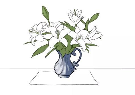 Как нарисовать вазу с цветами? Шаг 18. Портреты карандашом - Fenlin.ru