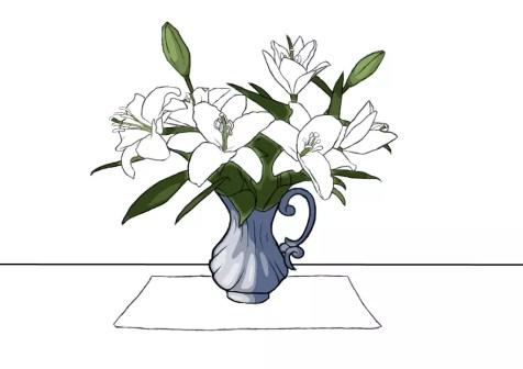 Как нарисовать вазу с цветами? Шаг 19. Портреты карандашом - Fenlin.ru