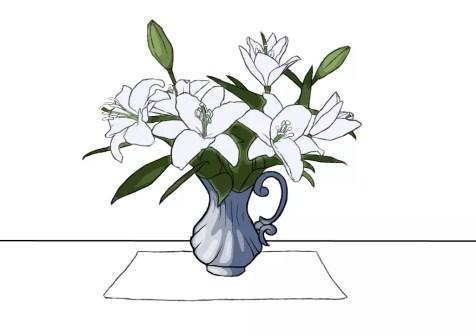 Как нарисовать вазу с цветами? Шаг 20. Портреты карандашом - Fenlin.ru