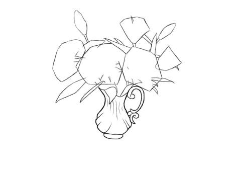 Как нарисовать вазу с цветами? Шаг 7. Портреты карандашом - Fenlin.ru