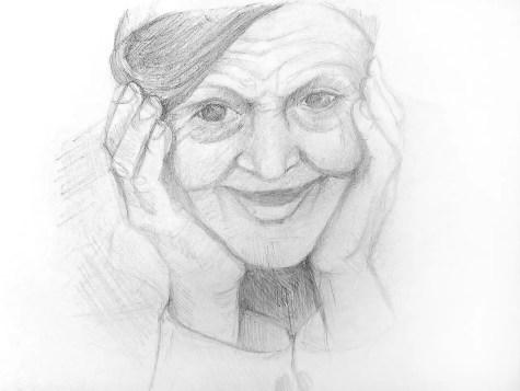 Как нарисовать старушку карандашом? Шаг 10. Портреты карандашом - Fenlin.ru