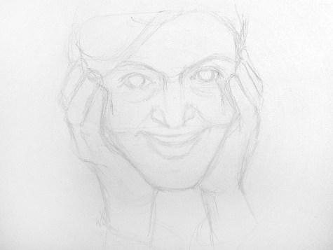 Как нарисовать старушку карандашом? Шаг 5. Портреты карандашом - Fenlin.ru