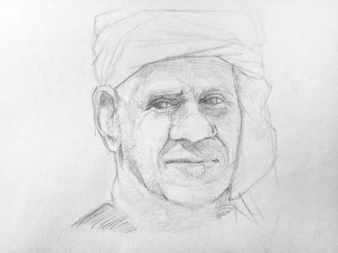 Как нарисовать старика карандашом? Шаг 12. Портреты карандашом - Fenlin.ru