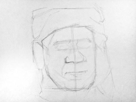 Как нарисовать старика карандашом? Шаг 4. Портреты карандашом - Fenlin.ru