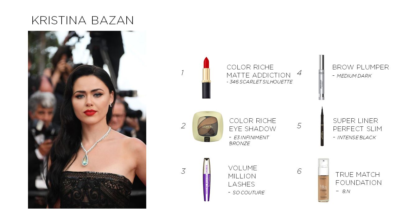 Get Kristina's gorgeous va-va-voom look with these L'oreal products!