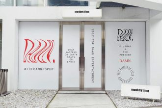 Exterior of clothing store