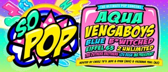 So Pop banner ad with artist line up