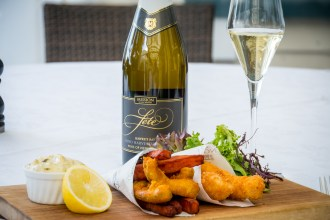 Fish and chips recipe with Mission Estate's bubbly