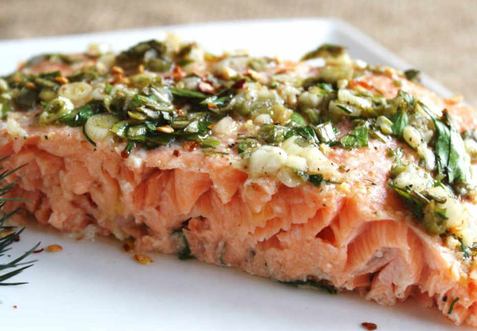 Honey Baked Salmon or Trout