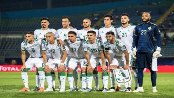 Montage : joueurs équipe d'Algérie, internationaux algériens
