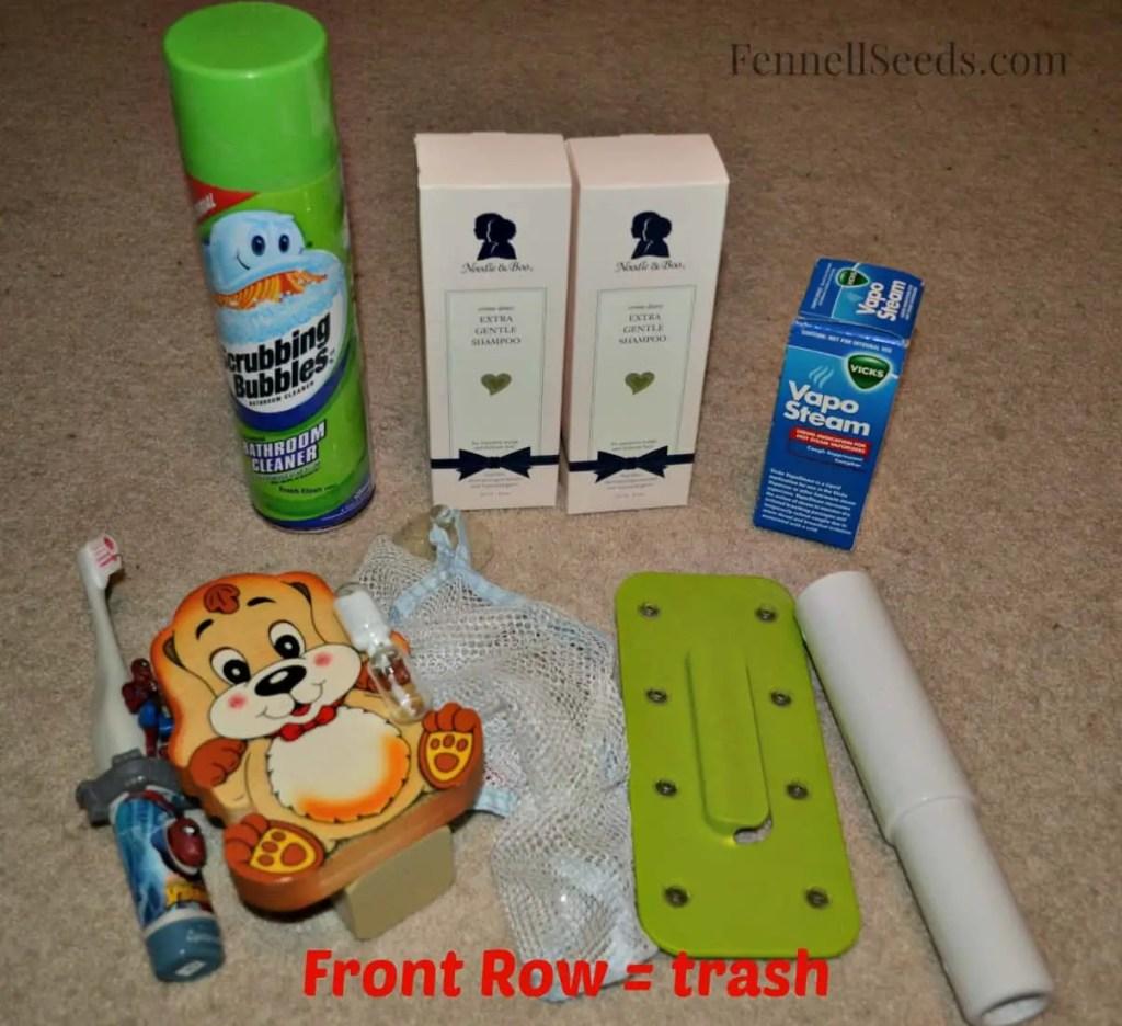 Bonus Cleaning - Boys Bath Cabinet Trash